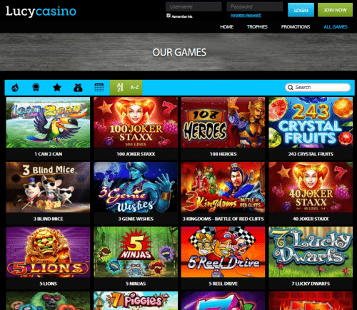 lucy casino games