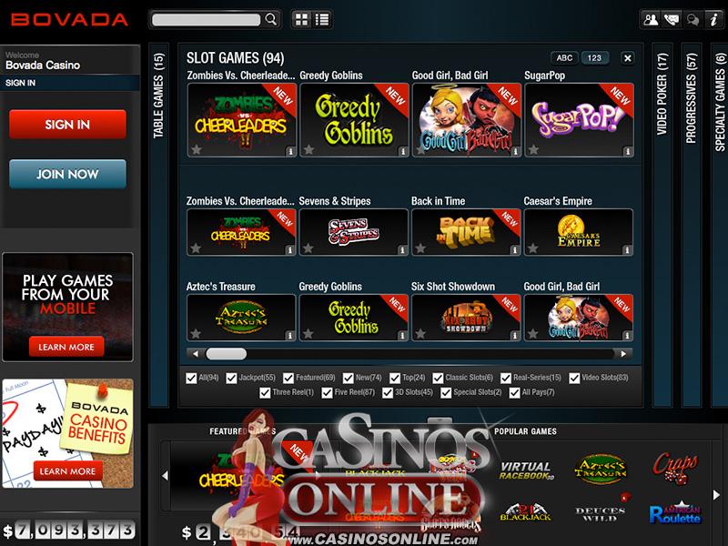 Bovada Casino - Casino Review